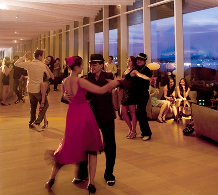 Salsa dancing at Drift, Hilton Pattaya.