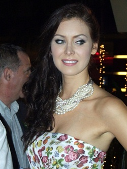 Miss Universe 2005 Natalie Glebova was among the famous models to appear at the show.