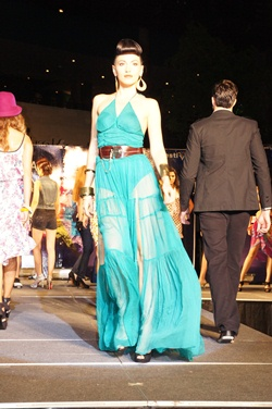 Top international models showcased the chic designer garments to onlookers.