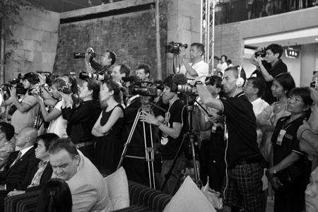 A large gathering of the local and national media were in attendance to record the fashion extravaganza.
