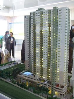 A model of the Lumpini Condotown building.