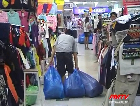 The fake goods are confiscated by police
