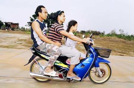 Helmets in Thailand.