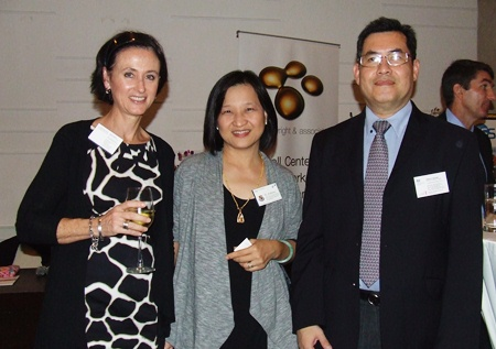 Representing sponsors for the evening were Jaemi Hodgson, marketing director Thailand, Cognita Teaching Excellence; Seesa-ang Tantiyartyanont, PA to Head of School, St. Andrews International School Rayong Campus, and Attakorn Saropala, trade and investment manager with the British Embassy Bangkok.v