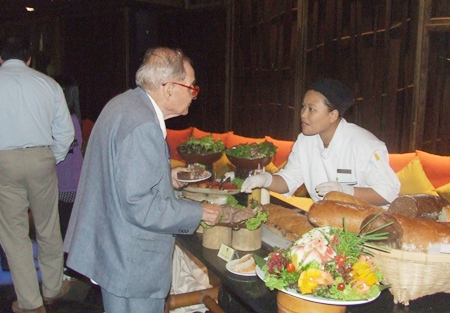 A great selection of food is put on by Centara Grand for this special occasion.