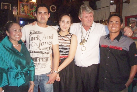 The happy Nielsens (L to R) Songkran, Avid, Christina, Bjarne and Egon.