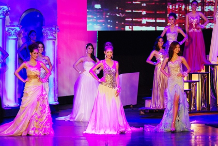 Part of the pageantry of the final round is the evening dress procession in front of the judges.