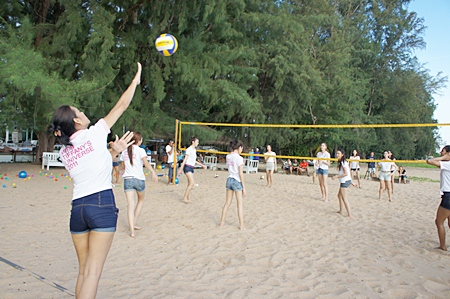 The Beach Volleyball event promotes good relations between the contestants.