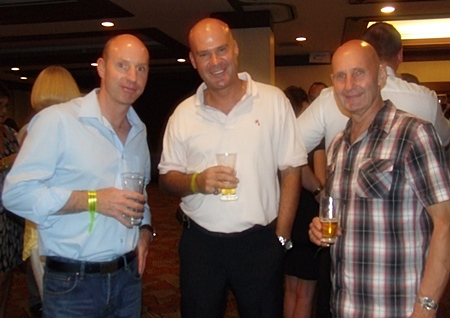 A happy threesome (l-r) Craig Smith (Royal Lotus Group Property), Stuart Daly (Pattaya Realty) and Dries Van Veen (Investor).