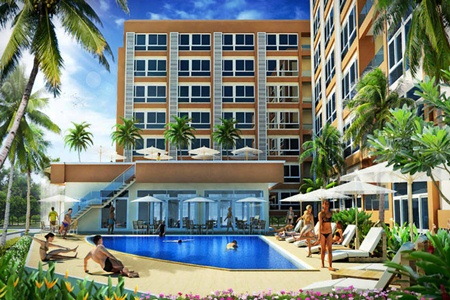 An artist's render shows the Bang Saray Beach Condominium project.