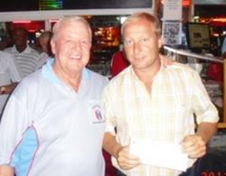 Low Gross winner Mike Alidi, right, with the PSC Golf Chairman Joe Mooneyham.