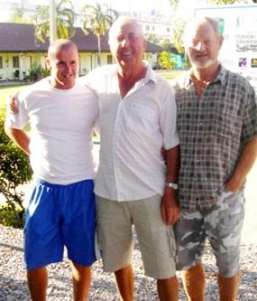 Monday's top three: Richard Hurley, Tony Duthie and John Coetzee.