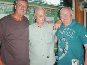 Mike Gaussa, Dave Edwards & John Chapman - the major Charity Day winners.