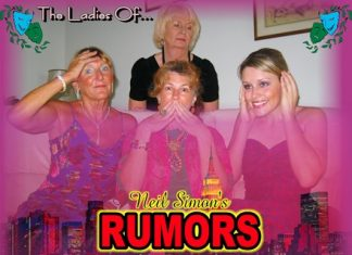 Female cast members of 'Rumors' featured from left to right: Wendy Khan, Foo Smith, Clare Bryant & Cailin Terhaar.