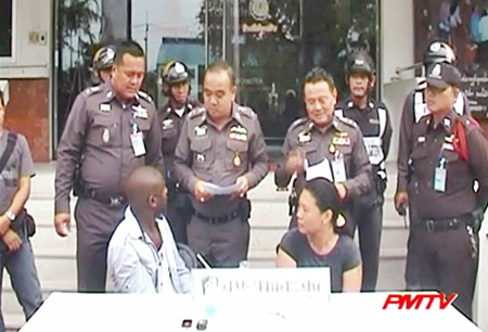 The Nigerian and Thai drug dealers are presented to the press