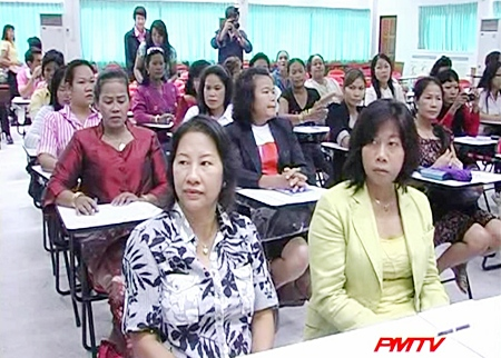 Ladies living with foreigners learn about their rights and exchange experiences