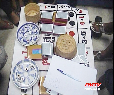 Various gambling paraphernalia Was also confiscated.