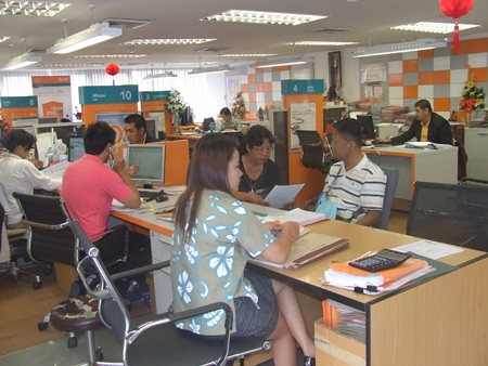 Aspiring homeowners apply for loans from the Government Housing Bank in North Pattaya.