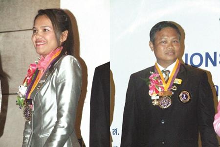 (Left) Kanjana Limsawatwongsa, President Lions Club of Pattaya-Taksin, (Right) Capt. Dejsa Thonsungnern, President Lions Club of Pattaya-Nongprue.