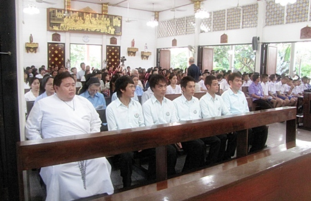 Hundreds of people made it inside the church to remember the passing of Fr. Lawrence Patin.