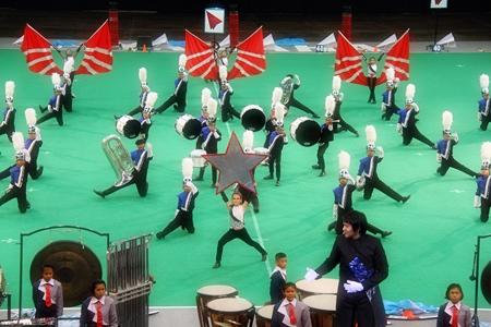 The Pattaya school marching band gives an award winning performance.