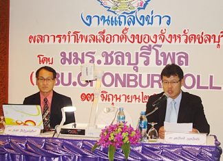 Dr. Wanchai Jungwiboonsatit and Dr. Somkiat Jongjitman announce the survey results.