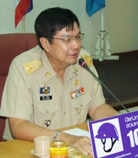 Chonburi Deputy Gov. Pornchai Kwansakul outlines changes by Thailand's Office of Insurance Commission.