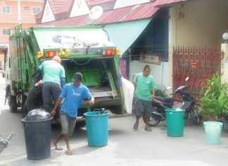 The city is now installing reserve tanks on garbage trucks to corral the extra sludge that accumulates during the rainy season.