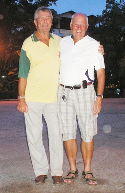Wednesday winners at Green Valley: Kari Aarnio and Bryan Rought.