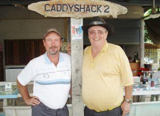 Wednesday winner Bill Thompson, left, with runner up Larry Emerson.