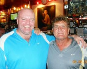 Sunday's A Flight runner up Gareth Gill, left, with B Flight winner Lou Szigligeti.