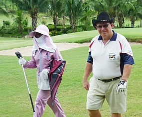 Brian Orr, right, strolls to victory at Royal Lakeside