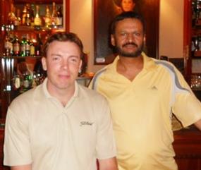 Sunday's winners: Chaten Patel and Adam Oyston.