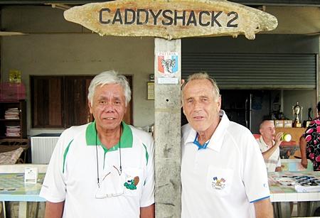 Wednesday winner Sus Ige, left, with runner-up Dale Murphy.