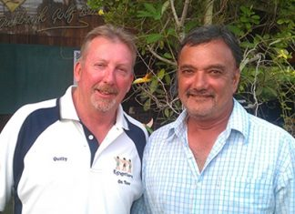 Mike Quill (left) and 'Raji' - winners at Khao Kheow on Friday.