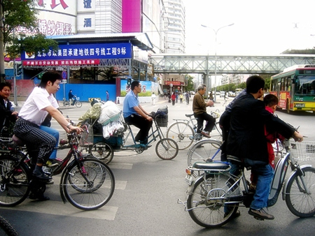 China by bicycle