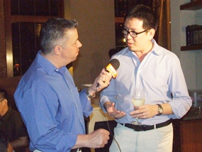Joe Thawilvejjakul, right, from Pacific Cigar Company tells Pattaya Mail TV's Paul Strachan all about the fascinating world of cigars.
