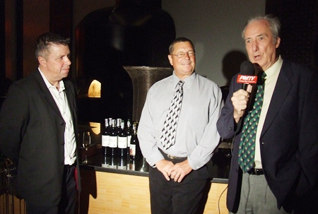 Robert Fredson is interviewed for PMTV by the dynamic duo, Paul Strachan (left) and Dr. Iain Corness.
