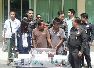 Sompong Saowarot, Wanchai Ekjeen and Thimpika Sangrocha have been remanded to custody on suspicion of grand theft.