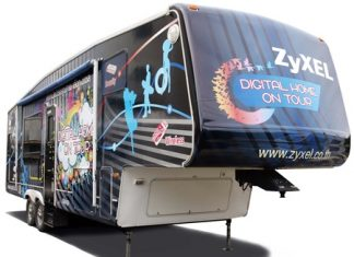 The Zyxel Z-Home van is crisscrossing Thailand through October, offering demonstrations and prize giveaways.