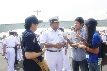 Royal Thai Navy Commander-in-Chief Adm. Kamthon Pumhiran denies he is in the running to become defense minister.
