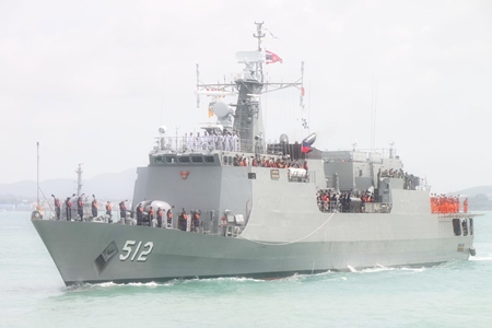 The lucky hull #512, aka HTMS Narathiwat, sets out for the Gulf of Aden.