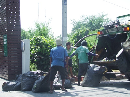 As the city, including Koh Larn, grows, so does the need for bigger and better rubbish removal.