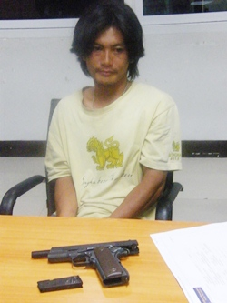Chok Noiya was apprehended after fleeing officers who ordered him to stop at a Central Road checkpoint.