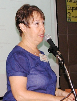 Membership Director Judith advises members of the encouraging state of memberships in Pattaya City Expats Club.