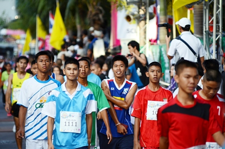 Pattaya's youth turned out in force to take part in the 3km fun run.