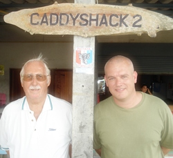 Wednesday winner Paul A. Kinmond (left) with runner-up Arnold van de Graaf.