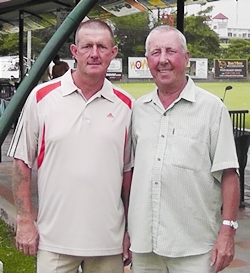 Monday's A & B Flight winners: Fred Land & Tony Duthie.