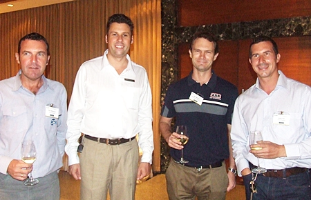 Paul Wilkinson, operations manager of CEA chats to the new GM of the Pullman Pattaya Aisawan, Clinton Lovell, along with Off Road Accessories specialist Ben Mitchell and Andy Hall, who is the director of CEA projects.