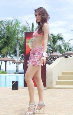 Miss Perfect Body Nutshada Kanjanapaiharn struts her stuff.